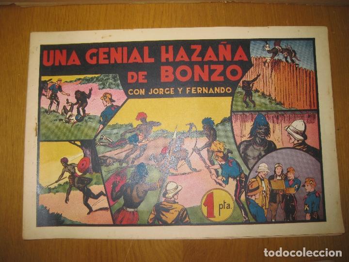 JORGE Y FERNANDO. UNA GENIAL HAZAÑA DE BONZO. HISPANO AMERICANA DE EDICIONES. ORIGINAL. (Tebeos y Comics - Hispano Americana - Jorge y Fernando)
