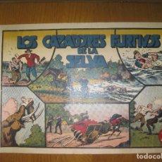 Tebeos: JORGE Y FERNANDO. LOS CAZADORES FURTIVOS DE LA SELVA. HISPANO AMERICANA DE EDICIONES. ORIGINAL.. Lote 148296778