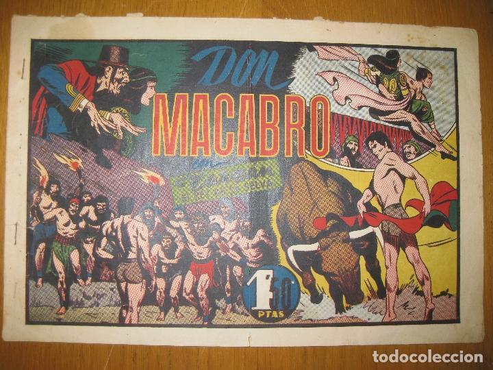 TARZAN EL REY DE LA SELVA. DON MACABRO. HISPANO AMERICANA DE EDICIONES. ORIGINAL. (Tebeos y Comics - Hispano Americana - Tarzán)