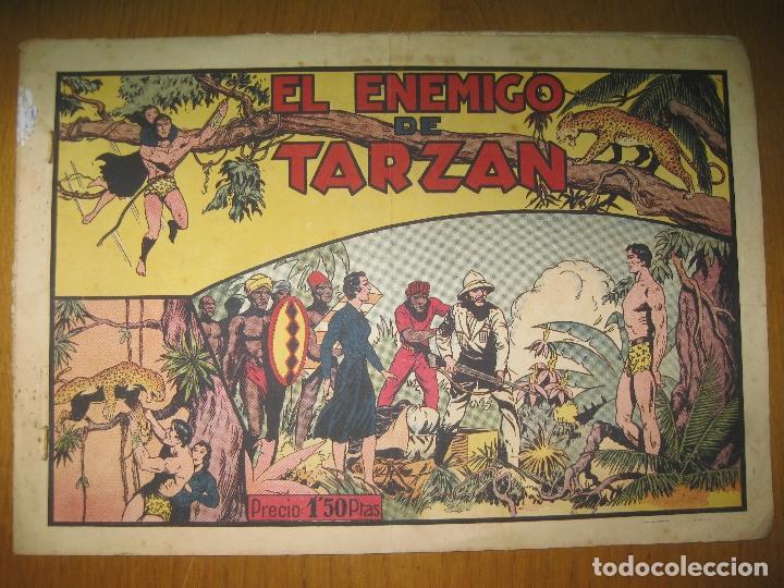 TARZAN EL REY DE LA SELVA. EL ENEMIGO DE TARZAN. HISPANO AMERICANA DE EDICIONES. ORIGINAL. (Tebeos y Comics - Hispano Americana - Tarzán)