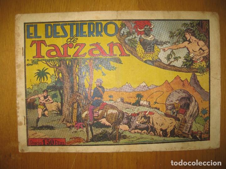 TARZAN EL REY DE LA SELVA. EL DESTIERRO DE TARZAN. HISPANO AMERICANA DE EDICIONES. ORIGINAL. (Tebeos y Comics - Hispano Americana - Tarzán)