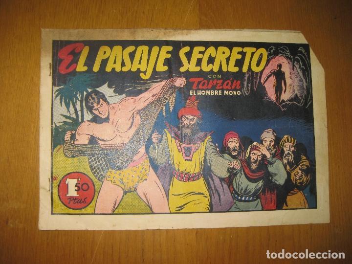 TARZAN EL HOMBRE MONO. EL PASAJE SECRETO. HISPANO AMERICANA DE EDICIONES. ORIGINAL. (Tebeos y Comics - Hispano Americana - Tarzán)