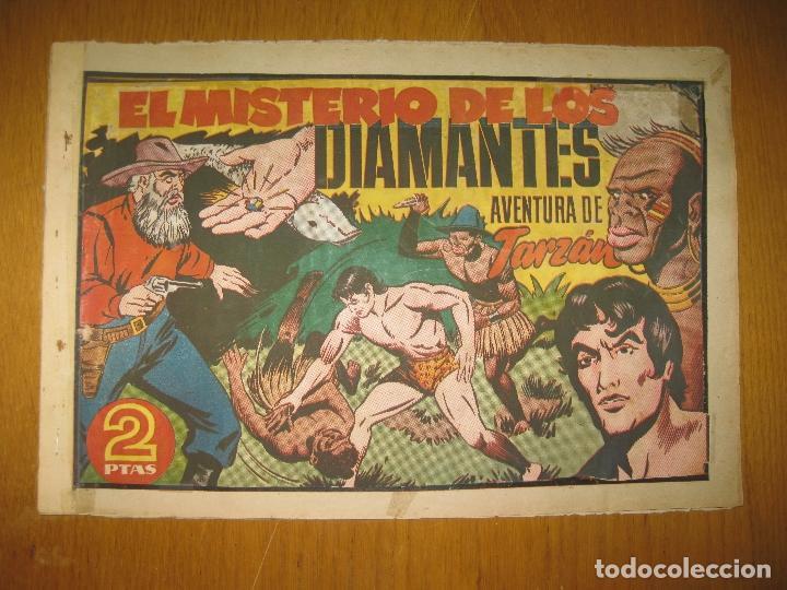 TARZAN EL HOMBRE MONO. EL MISTERIO DE LOS DIAMANTES. HISPANO AMERICANA DE EDICIONES. ORIGINAL. (Tebeos y Comics - Hispano Americana - Tarzán)