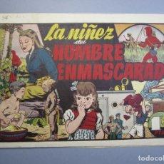 Tebeos: HOMBRE ENMASCARADO, EL (1941, HISPANO AMERICANA) 36 · 1941 · LA NIÑEZ DEL HOMBRE ENMASCARADO. Lote 148668154