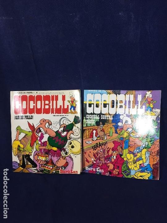 DOS CÓMIC COCOBILL OJO DE POLLO Y COCOBILL CONTRA NADIE BURU LAN POR JACOVITTI 1973 (Comics und Tebeos - Hispano Americana - Andere HIspano Americana)