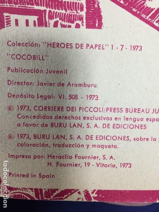 Tebeos: dos CÓMIC COCOBILL OJO DE POLLO y cocobill contra nadie BURU LAN POR JACOVITTI 1973 - Foto 12 - 148772802