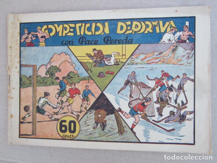 PACO PEREDA , NUMERO 2 COMPETICION DEPORTIVA , LYMAN YOUNG , HISPANO AMERICANA 1942 (Tebeos y Comics - Hispano Americana - Otros)