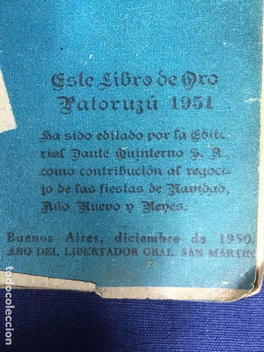 Tebeos: cómic original libro de oro patoruzú editado por Dante Quintero argentina 1951 - Foto 9 - 148779798
