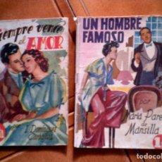 Tebeos: LOTE DE DOS NOVELAS ,UN HOMBRE FAMOSO Y SIEMPRE VENCE EL AMOR AÑOS 40. Lote 149674154