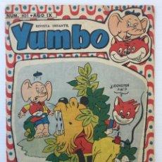 Tebeos: REVISTA INFANTIL YUMBO Nº 401 – HISPANO AMERICANA DE EDICIONES 1958. Lote 154078081