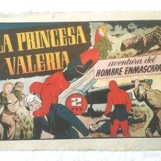 Tebeos: HOMBRE ENMASCARADO Nº 7 LA PRINCESA VALERIA, HISPANO AMERICANA AÑO 43, ORIGINAL. Lote 152066266