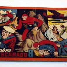 Tebeos: EL HOMBRE ENMASCARADO Nº8 - HISPANO AMERICANA DE EDICIONES - CUADERNO ROJO - AÑOS 50. Lote 152303350