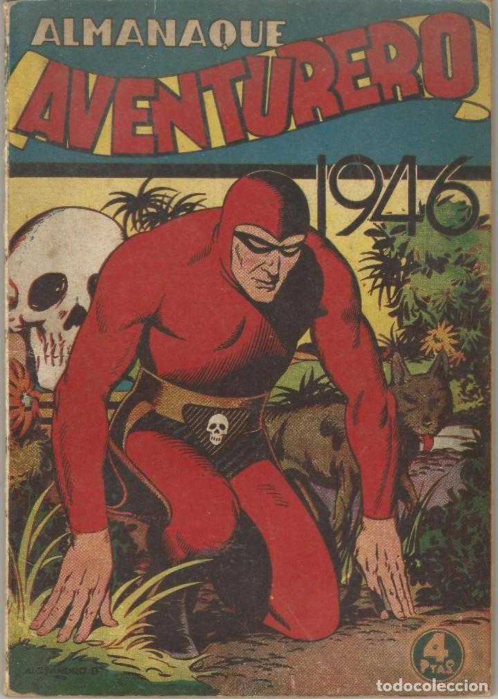 COMIC ALMANAQUE 1946 AVENTURERO EL HOMBRE ENMASCARADO EL LOCO HOLYWOOD ED HISPANO AMERICANA (Tebeos y Comics - Hispano Americana - Aventurero)