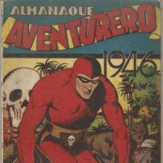 Tebeos: COMIC ALMANAQUE 1946 AVENTURERO EL HOMBRE ENMASCARADO EL LOCO HOLYWOOD ED HISPANO AMERICANA. Lote 144562078