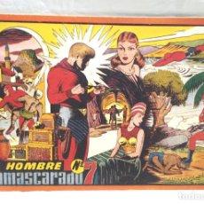 Tebeos: EL HOMBRE ENMASCARADO Nº 7 ALBUM ROJO HISPANO AMERICANA AÑO 1943, BUEN ESTADO. Lote 154060302