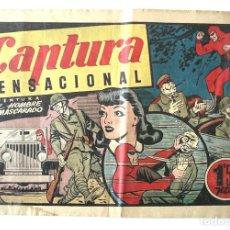 Tebeos: EL HOMBRE ENMASCARADO Nº 56 CAPTURA SENSACIONAL. Lote 154060782