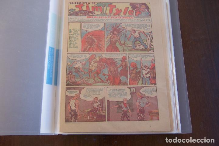 Tebeos: HISPANO AMERICANA., TIM TYLER DESDE EL Nº 1 SALIO 23-3-1936 AL 113 DE 9-6-1938 TERMINO. - Foto 10 - 154495070