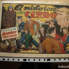 Tebeos: AVENTURA DEL HOMBRE ENMASCARADO - EL MISTERIOSO SEÑOR CERDO - HISPANO AMERICANA. Lote 154496738