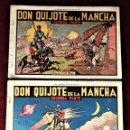 Tebeos: DON QUIJOTE DE LA MANCHA 1ª Y 2ª PARTE COLECCION COMPLETA 1941 HISPANO AMERICANA , ORIGINAL. Lote 155802726