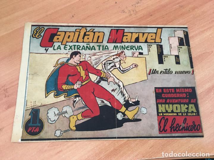 EL CAPITAN MARVEL Nº 6 Y LA EXTRAÑA TIA MINERVA (ORIGINAL HISPANO AMERICANA ) 1,5 PTAS (COIM27) (Tebeos y Comics - Hispano Americana - Capitán Marvel)