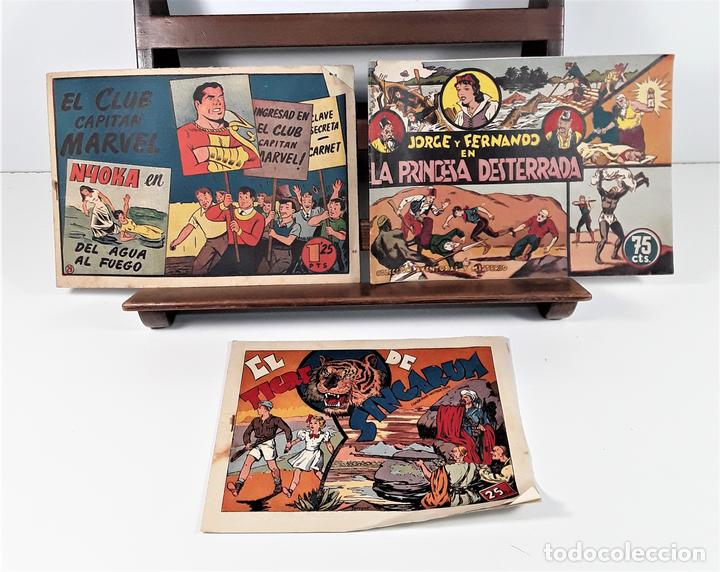 EDICIONES HISPANO AMERICANA. 3 EJEMPLARES. BARCELONA. AÑOS 40. (Tebeos y Comics - Hispano Americana - Otros)