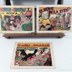 Tebeos: EDICIONES HISPANO AMERICANA. 3 EJEMPLARES. BARCELONA. AÑOS 40.. Lote 162150346