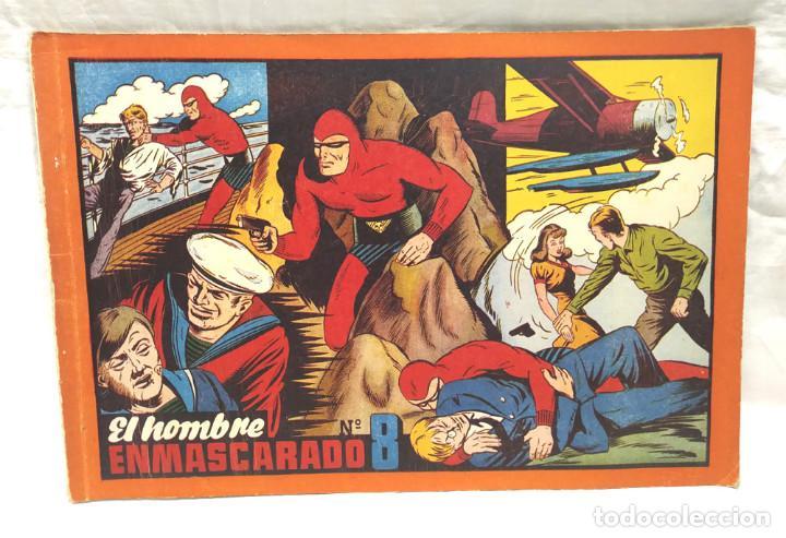 EL HOMBRE ENMASCARADO Nº 8 Y ÚLTIMO DE ALBUM ROJO HISPANO AMERICANA AÑO 1943, BUEN ESTADO (Tebeos y Comics - Hispano Americana - Hombre Enmascarado)