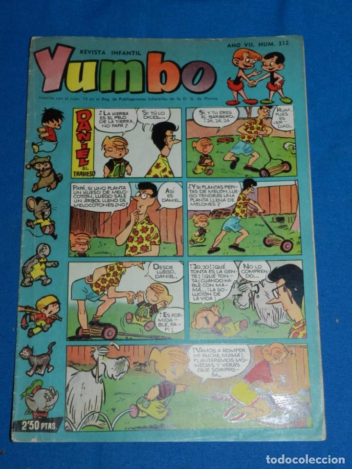(M3) YUMBO AÑO VII NUM 312 , EDT HISPANO AMERICANA , SEÑALES DE USO (Tebeos y Comics - Hispano Americana - Yumbo)