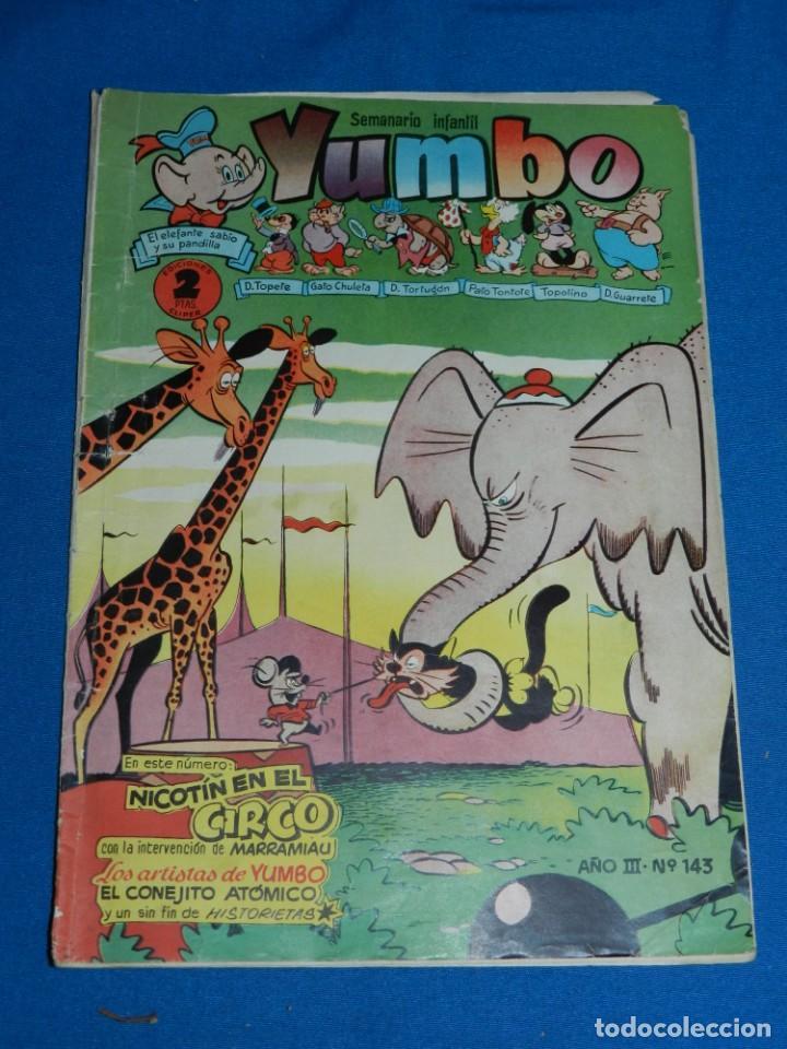 (M3) YUMBO AÑO III NUM 143 , EDT HISPANO AMERICANA , SEÑALES DE USO (Tebeos y Comics - Hispano Americana - Yumbo)