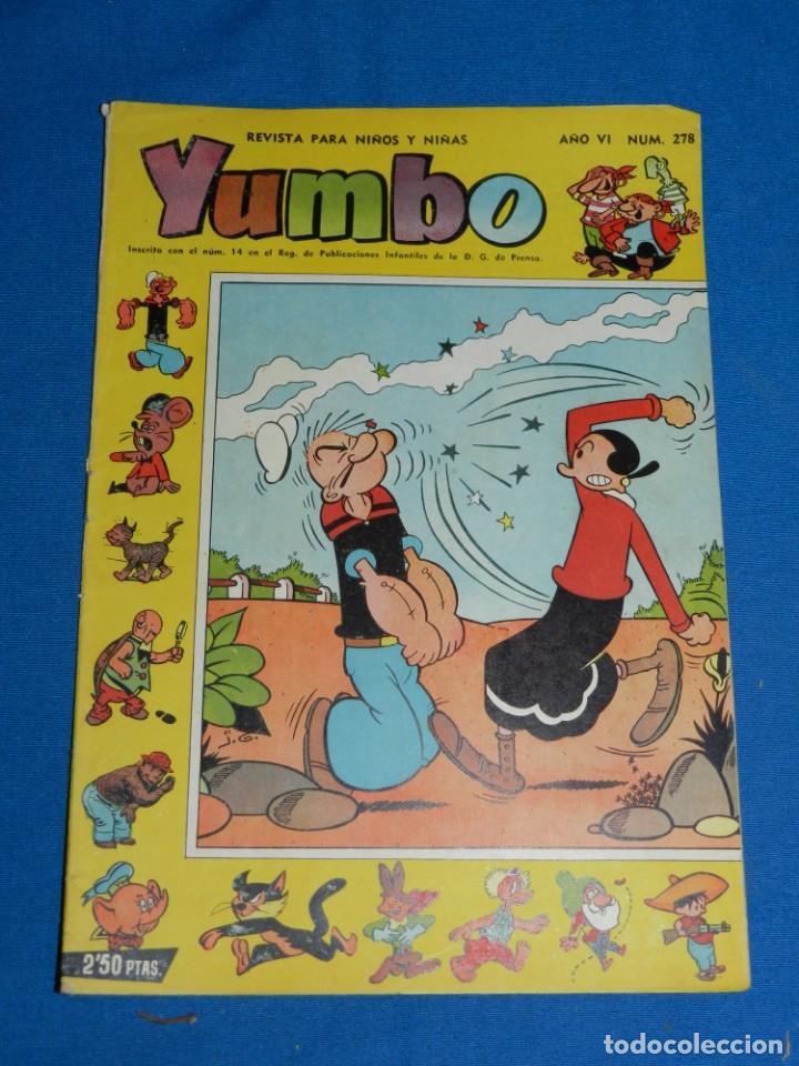 (M3) YUMBO AÑO VI NUM 278 , EDT HISPANO AMERICANA , SEÑALES DE USO (Tebeos y Comics - Hispano Americana - Yumbo)