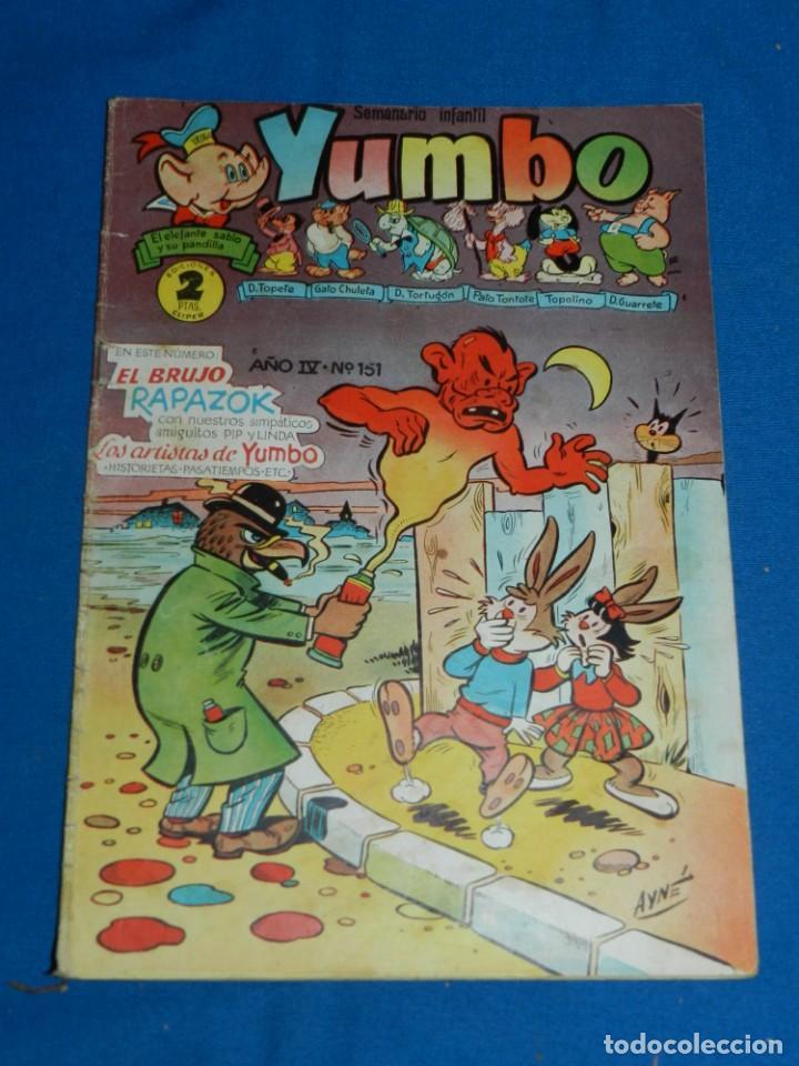 (M3) YUMBO AÑO IV NUM 151 , EDT HISPANO AMERICANA , SEÑALES DE USO (Tebeos y Comics - Hispano Americana - Yumbo)