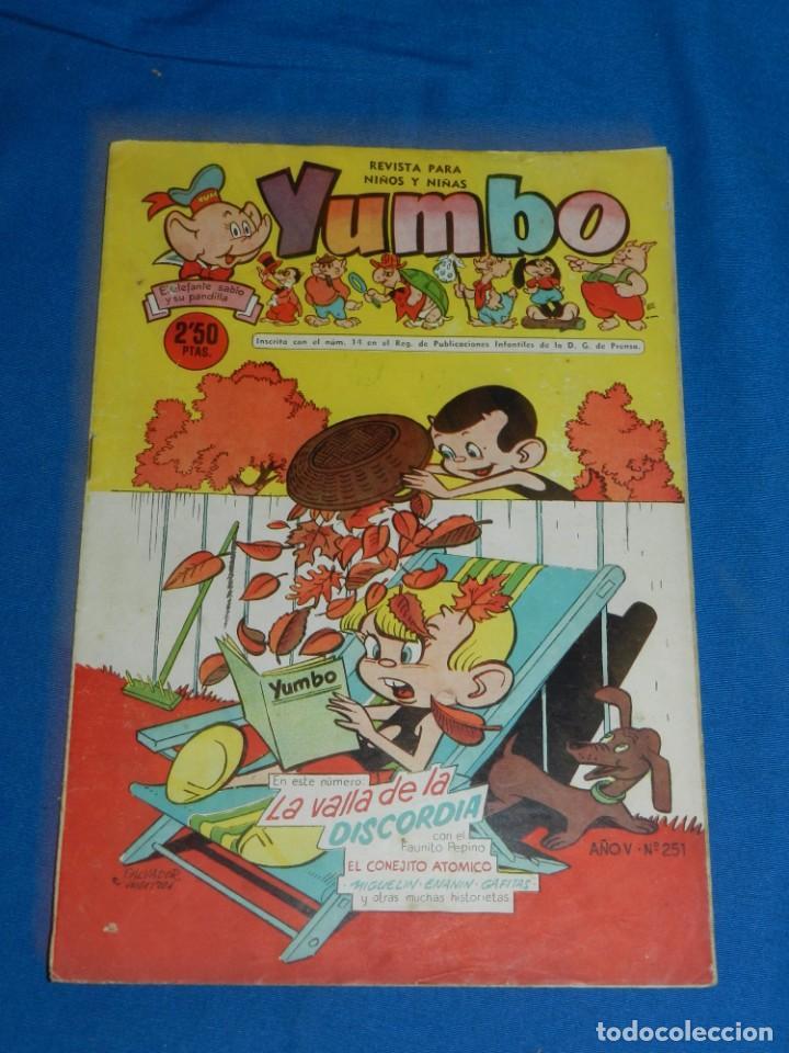 (M3) YUMBO AÑO V NUM 251 , EDT HISPANO AMERICANA , SEÑALES DE USO (Tebeos y Comics - Hispano Americana - Yumbo)