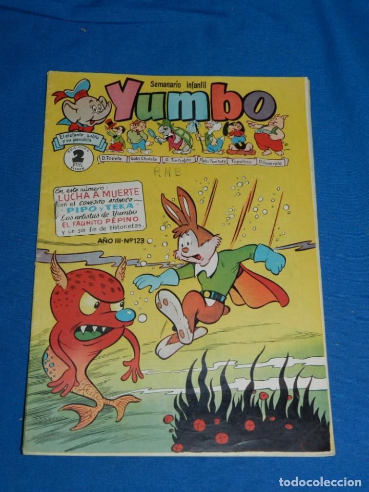 (M3) YUMBO AÑO III NUM 123 , EDT HISPANO AMERICANA , SEÑALES DE USO (Tebeos y Comics - Hispano Americana - Yumbo)