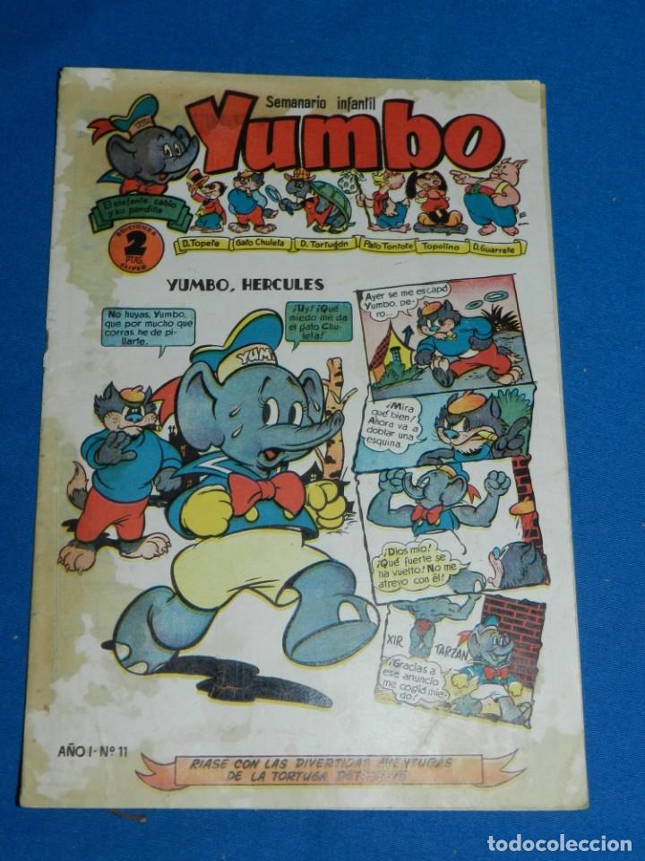 (M3) YUMBO AÑO I NUM 11 , EDT HISPANO AMERICANA , SEÑALES DE USO CON MANCHAS (Tebeos y Comics - Hispano Americana - Yumbo)