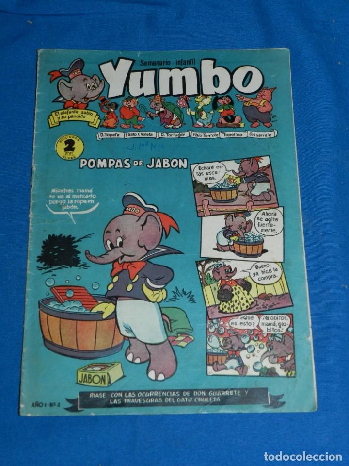 (M3) YUMBO AÑO I NUM 4 , EDT HISPANO AMERICANA , SEÑALES DE USO (Tebeos y Comics - Hispano Americana - Yumbo)