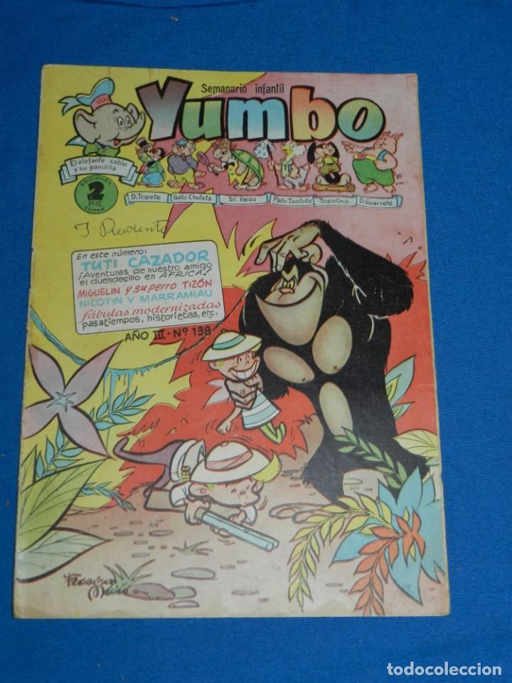 (M3) YUMBO AÑO III NUM 138 , EDT HISPANO AMERICANA , SEÑALES DE USO (Tebeos y Comics - Hispano Americana - Yumbo)