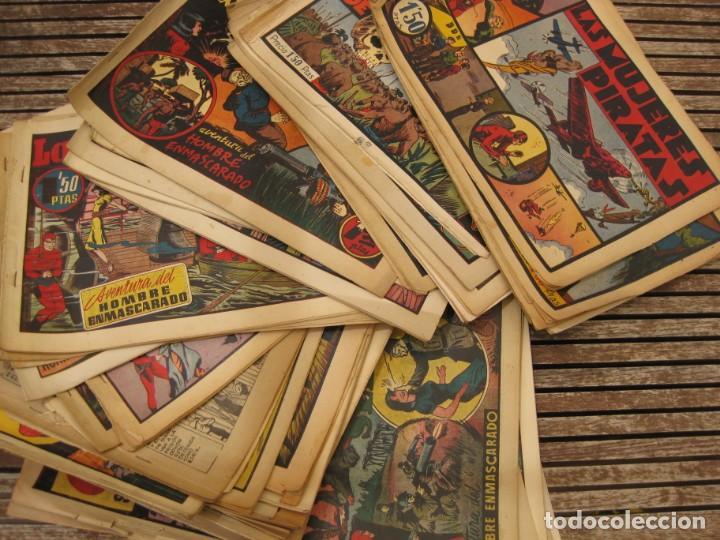 GRAN LOTE 67 EL HOMBRE ENMASCARADO HISPANO AMERICANA DE EDICIONES ORIGINALES AÑOS 40 (Tebeos y Comics - Hispano Americana - Hombre Enmascarado)