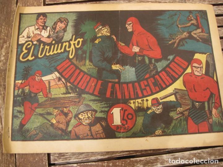 Tebeos: gran lote 67 el hombre enmascarado hispano americana de ediciones originales años 40 - Foto 2 - 164143534