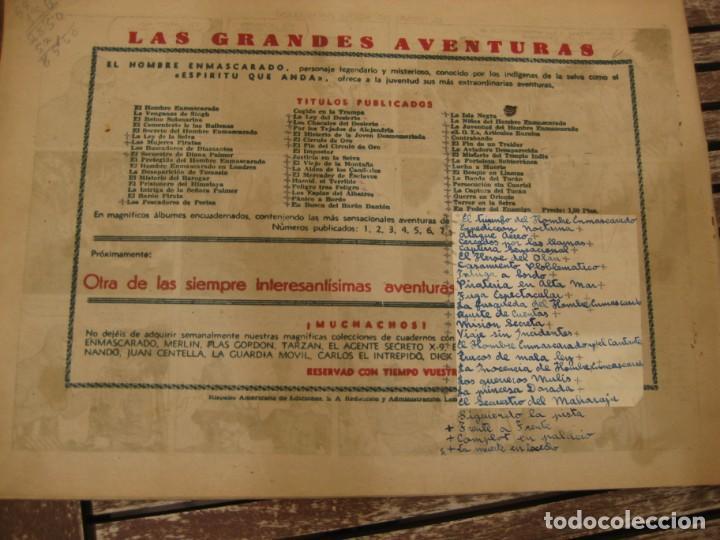 Tebeos: gran lote 67 el hombre enmascarado hispano americana de ediciones originales años 40 - Foto 3 - 164143534
