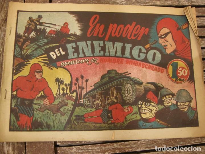 Tebeos: gran lote 67 el hombre enmascarado hispano americana de ediciones originales años 40 - Foto 4 - 164143534