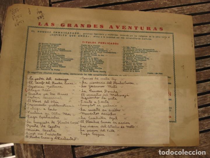 Tebeos: gran lote 67 el hombre enmascarado hispano americana de ediciones originales años 40 - Foto 5 - 164143534