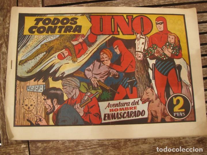 Tebeos: gran lote 67 el hombre enmascarado hispano americana de ediciones originales años 40 - Foto 6 - 164143534