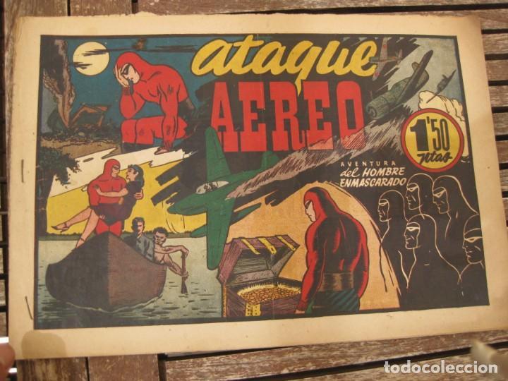 Tebeos: gran lote 67 el hombre enmascarado hispano americana de ediciones originales años 40 - Foto 8 - 164143534