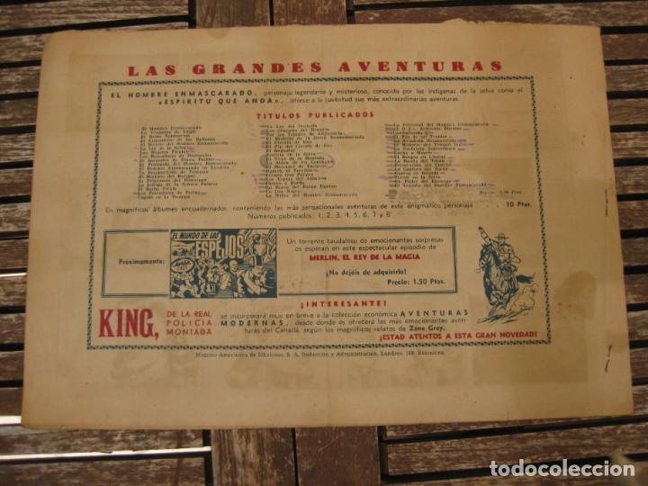 Tebeos: gran lote 67 el hombre enmascarado hispano americana de ediciones originales años 40 - Foto 9 - 164143534