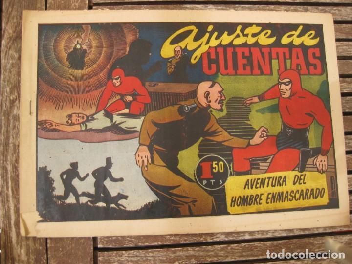 Tebeos: gran lote 67 el hombre enmascarado hispano americana de ediciones originales años 40 - Foto 10 - 164143534
