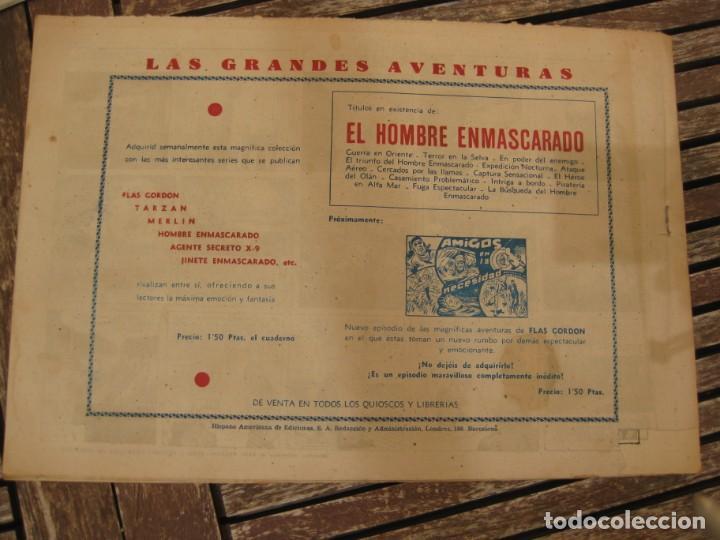 Tebeos: gran lote 67 el hombre enmascarado hispano americana de ediciones originales años 40 - Foto 11 - 164143534