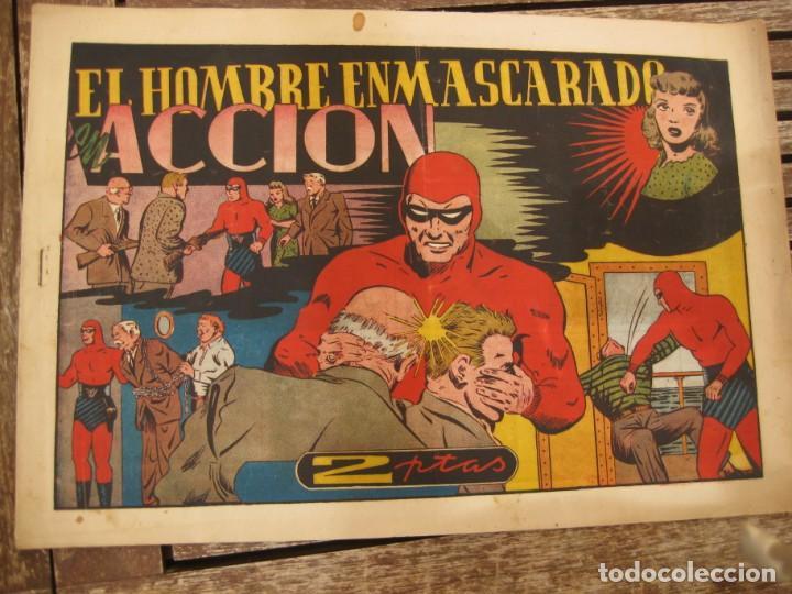 Tebeos: gran lote 67 el hombre enmascarado hispano americana de ediciones originales años 40 - Foto 12 - 164143534