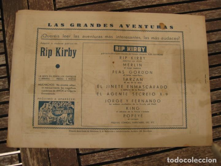 Tebeos: gran lote 67 el hombre enmascarado hispano americana de ediciones originales años 40 - Foto 13 - 164143534