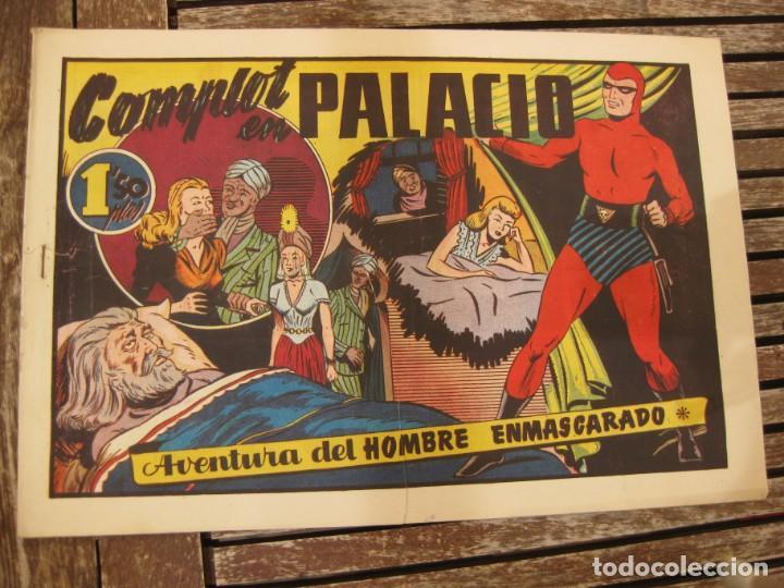 Tebeos: gran lote 67 el hombre enmascarado hispano americana de ediciones originales años 40 - Foto 14 - 164143534