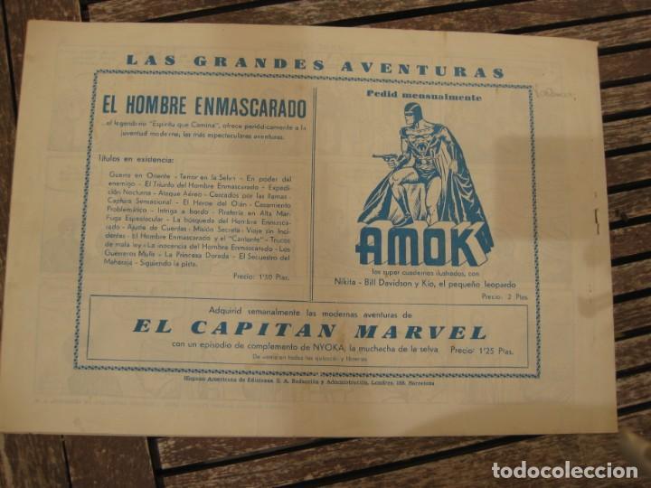 Tebeos: gran lote 67 el hombre enmascarado hispano americana de ediciones originales años 40 - Foto 15 - 164143534